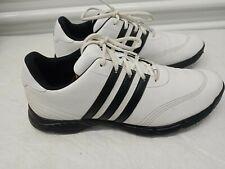 New listing Adidas Traxion Adiprene Black & White Golf Shoes Men Size 10.5