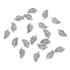 20 Pcs Leaf Pendant Charms Jewellery Making Kits DIY Jewelry Making