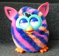 Pink Orange & Blue Striped Furby Boom. Good condition in good working order *