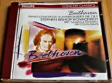 BEETHOVEN PIANO CONCERTOS NR 1/2 STEPHEN BISHOP KOVACEVICH PHILIPS 422 968-2 CD