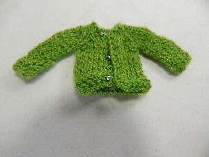 Doll House Miniature 1:12 Scale #SP-999-M-Yellow Child Kid Med-Green Sweater