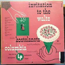 """ANDRE KOSTELANETZ invitation to the waltz 10"""" VG+ ML 2069 ALEX STEINWEISS 1949"""
