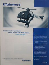 2/2000 PUB TURBOMECA MICROTURBO LABINAL HELICOPTERE JOUET HELICOPTER ORIGINAL AD