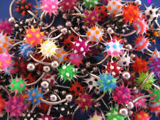 Bulk 120 x 316L Surgical Steel UV Koosh Belly Bars various colours FREE POST