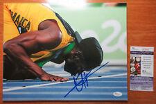 *KISS THE TRACK* Usain Bolt Signed 2016 Rio Olympics 11x14 Photo Proof JSA