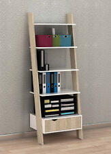SoBuy® Ladder Storage Wall Shelving Unit with 4 Shelves and Drawer,FRG112-WN,UK
