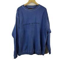 Eddie Bauer Mens Sweatshirt Large Size L Tall Blue Long Sleeved Jumper Ebtek