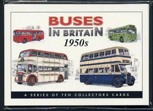 BUSES IN BRITAIN 1950s  Collectors Card Set - AEC Bristol Guy Arab Leyland Titan