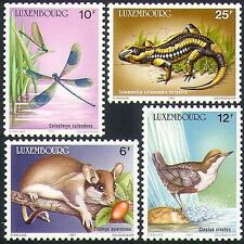 Luxembourg 1987 Birds/Dragonfly/Insects/Lizard/Dormouse/Animals/Nature 4v n34063