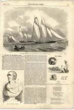 1855 goletas Thames Mayfly Wildfire tiburón Dr Croly mansión