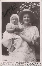 POSTCARD  ACTRESSES  Ruth Vincent  and Baby