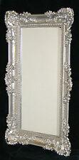 Specchio da parete Barocco Grande SPECCHIO ARGENTO LUCIDO 97x57 CORNICI antico
