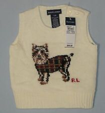 New Ralph Lauren Baby Girls Vest Wool Size 12 M