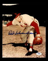Red Schoendienst PSA DNA Coa Hand Signed 8x10 Photo Autograph