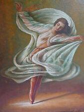 bello,vecchio dipinto___ballerina____Autografato