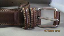 Men's Belt, Size 40, Brown, Double Stitching, Double Loop