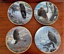 4 Seasons Of The Bald Eagle Collector Plates Artist John Pitcher for Hamilton
