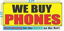 WE BUY PHONES Banner Sign Yellow with Red & Black