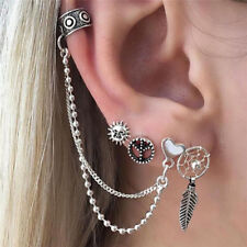 4pcs / Sets of Women Bohemian Silver Earrings Ear Clip Earrings Jewelry 0c