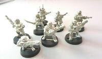 Warhammer 40k Imperial Guard Astra Militarum Cadian squad metal inc special weps