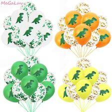 10 Pcs Dinosaur Confetti Helium Latex Balloons Birthday Baby Shower Graduation