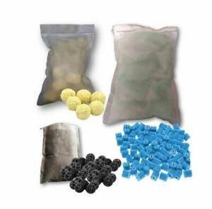 Biological Sponge Fish Tank Filter Aquarium Bio Ceramic Balls Media Mesh Bag