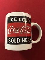"""VINTAGE GIBSON Coca Cola Advertising Mug """"Ice Cold Coca Cola Sold Here""""  NEW"""