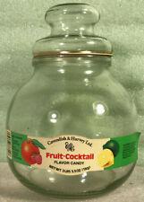 Vintage Cavendish & Harvey Fruit Cocktail Flavored Candy Clear Glass Jar w/ Lid