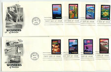 4033-72 Wonders of America, set of 40  Artcraft FDCs