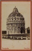 Italia Pisa Battistero Foto Van Lint Carte de visite Vintage Albumina
