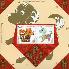 More details for niuafo'ou 2018 mnh year of dog 2v m/s dogs chinese lunar new year stamps