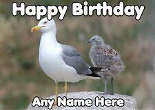 Seagull Happy Birthday codegu  A5 Personalised Greeting Card Son Dad granddad