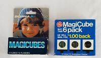 Lot of 9 Vintage GE Sylvania MagiCube Flash Cubes New in Original Boxes