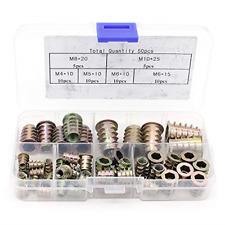 New listing Yuhtech Type D Threaded Wood Insert Nuts, Zinc Alloy Furniture Hex Socket Screw