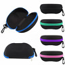 Zipper Sunglasses Case Box Eye Glasses Portable Clam Shell Protector Soft /Hard