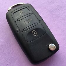 VW Passat Touran Tiguan Jetta Toureg 3 Button Flip Remote Key Fob Case HAA Blade