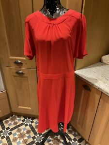 Dress Size 26 Next Tailoring Ladies redShort sleeves Pockets New Tags