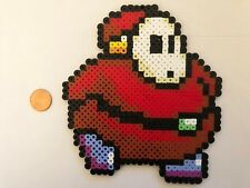 FAT SHY GUY SUPER MARIO BROS BEAD SPRITE PERLER HAMA ARTKAL PIXEL ART ICON RETRO
