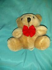"5"" Teddy Bear Plush With Red Bow 5"" Stuffed Animal"