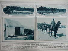1916 JAPANESE NEW YEAR MILITARY PARADE; CANADIAN ARMY WWI WW1 DOUBLE PAGE