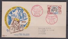 BELLE ENVELOPPE 1ER JOUR FDC TOUR DE FRANCE CYCLISTE 1953 CINQUANTENAIRE VELO