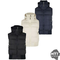 New SK Elise Ladies Womens Sleeveless Hood Quilted Gilet Vest Bodywarmer Crop To