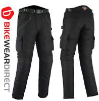 Motorbike Motorcycle Trousers Black Waterproof CE Armoured Cargo Biker Texpeed