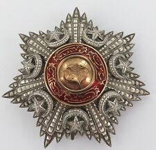 .RARE 1800s / EARLY 1900s TURKISH ORDER OF MEDJIDIE BREAST STAR. 2ND CLASS