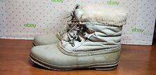 Vintage Sorel Womens Pompei Blue Lace Up Short Rain Ankle Boots Size 8