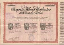 Titre 5 actions: Compania Minera Unificada del CERRO de POTOSI (ARGENTINE)  (Q)