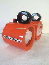"Blank F/B Orange Wakeboard Boat Tower Speakers Marine! Cast UTV JEEP, RZR, 6.5"""