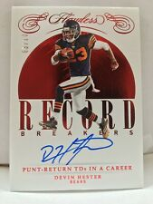DEVIN HESTER 2019 PANINI FLAWLESS RECORD BREAKERS AUTOGRAPH 03/10