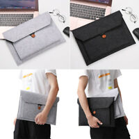 Wool Felt Tablet Sleeve Case For MacBook 10/11/12/13/14/15 inch Laptop Cover Bag