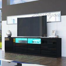 LED Lowboard TV Schrank 180cm Fernsehtisch Sideboard mit Regal Wohnzimmer Möbel